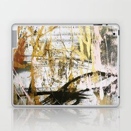 Armor [9]:a bright, interesting abstract piece in gold, pink, black and white Laptop & iPad Skin