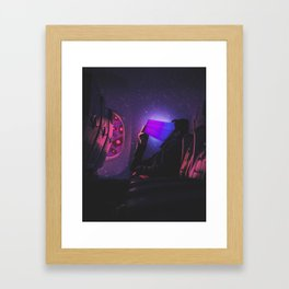 Social Media Addiction Manipulation Framed Art Print