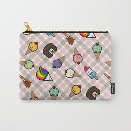 Neapolitan Gingham Frosty Treats Carry-All Pouch