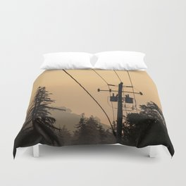 Yellow Mountain Haze Duvet Cover