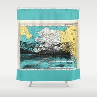 alaska Shower Curtains featuring Alaska by Ursula Rodgers