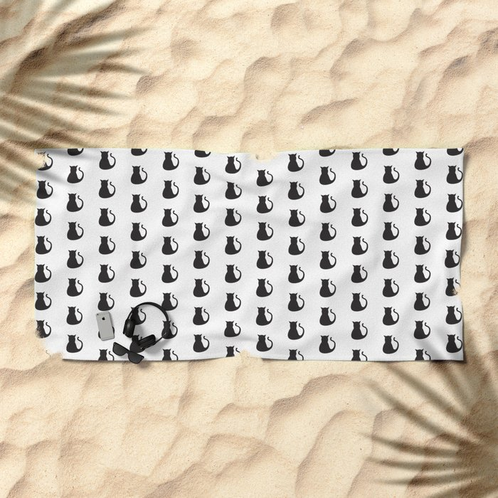 The Cats Meow Beach Towel