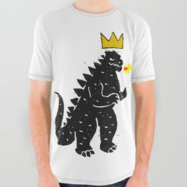 Jean-Michel Basquiat's Crown on Japanese Monster All Over Graphic Tee