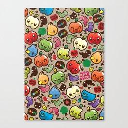 Apple Pattern Canvas Print