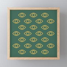 Watching eyes Framed Mini Art Print