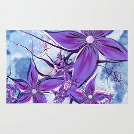 Painted Flowers Fractal Rug