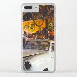 Man Cave. Clear iPhone Case