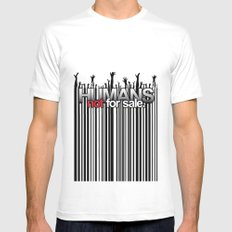 Humans Not For Sale Mens Fitted Tee White MEDIUM