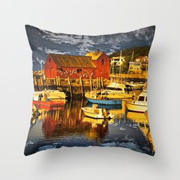Motif Number 1 , Bearskin Neck, Rockport MA Throw Pillow