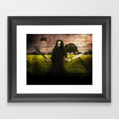Death loves you Framed Art Print