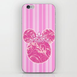 Minnie Mouse Princess Pink Swirls iPhone Skin