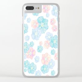 Blossoms Pastel  Clear iPhone Case