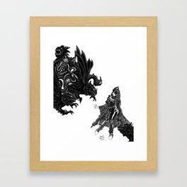 Fright Night [Digital Fantasy Illustration] Framed Art Print