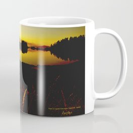 Piper S Lagoon Sunset On Vancouver Island Bc Canada Coffee Mug