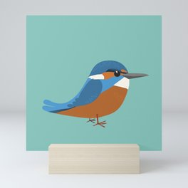 Common king fisher Mini Art Print