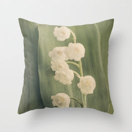 Scents of Spring - Lily of the Valley iii Throw Pillow