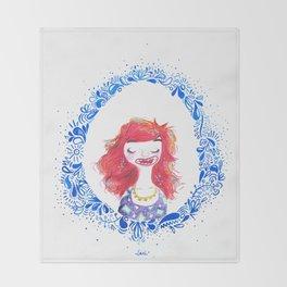 muchacha pelirroja Throw Blanket