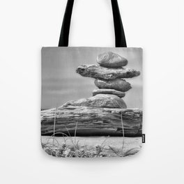 The Cairn in Black and White Tote Bag