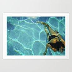 underwater pool selfportrait Art Print