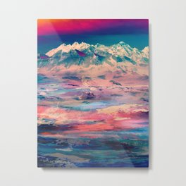 Dusky Mountain Metal Print