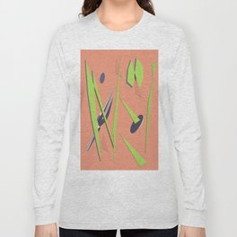 80s Shapes, Colors and Space Long Sleeve T-shirt