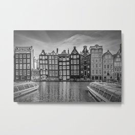 AMSTERDAM Damrak and dancing houses Metal Print