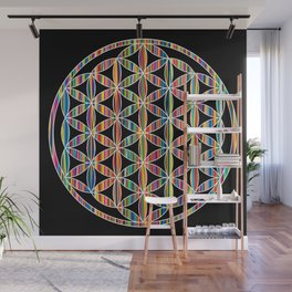 Flower of Life Colored | Kids Room | Delight Wall Mural