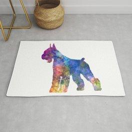 Giant Schnauzer dog in watercolor Rug