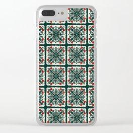 Hawaiian Applique Clear iPhone Case