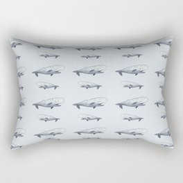 happy whale pattern Rectangular Pillow