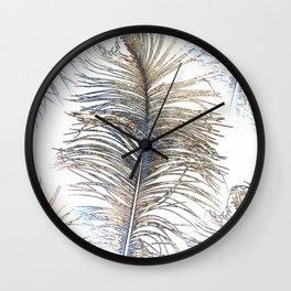 Ostrich Gold Wall Clock