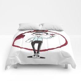 Ooh la la - the wine is good! Comforters
