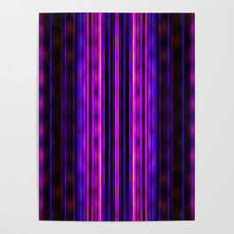 Glowing purple lines pattern Poster