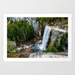 Vernal Falls, Yosemite Art Print