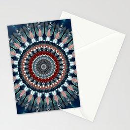 Festive Winter Night Mandala Stationery Cards