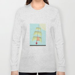 Flying and Sailing in May with May to America  - shoes stories Long Sleeve T-shirt