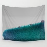monster inc Wall Tapestries featuring Monsters inc by jacobo Gonzalez
