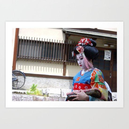 Reflections of a Geisha  Art Print