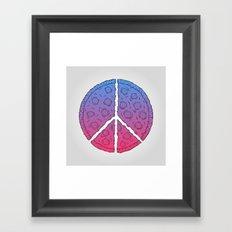 Peace & Pizza Framed Art Print