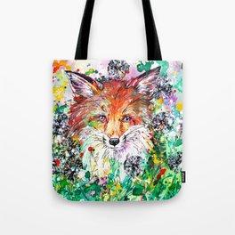 Hide and Seek - Fox Painting Tote Bag