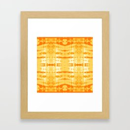 Satin Shibori Yellow Framed Art Print
