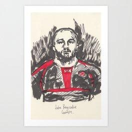 Rugby World Cup 2015 Portraits : Georgia - Jaba Bregvadze Art Print