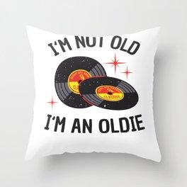 Vinyl Age Oldie Birthday Funny Gift Throw Pillow