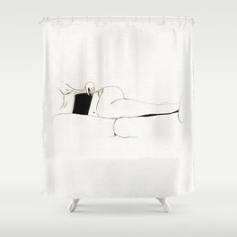 The Book - Black and white series Shower Curtain