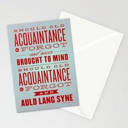 Auld Lang Syne letterpress Stationery Cards