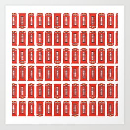 Red Telephone Booth Art Print