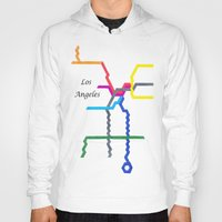 los angeles Hoodies featuring Los Angeles by Abstract Graph Designs