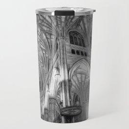 St Patrick's Cathedral New York Art Travel Mug
