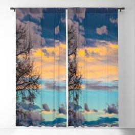 Colorful Colorado Sunset Blackout Curtain