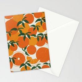 Tangerine orange Stationery Cards
